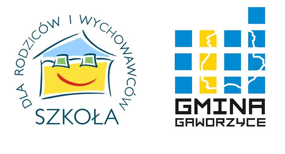 Logo Gminy Gaworzyce i Szkoły dla Rodziców